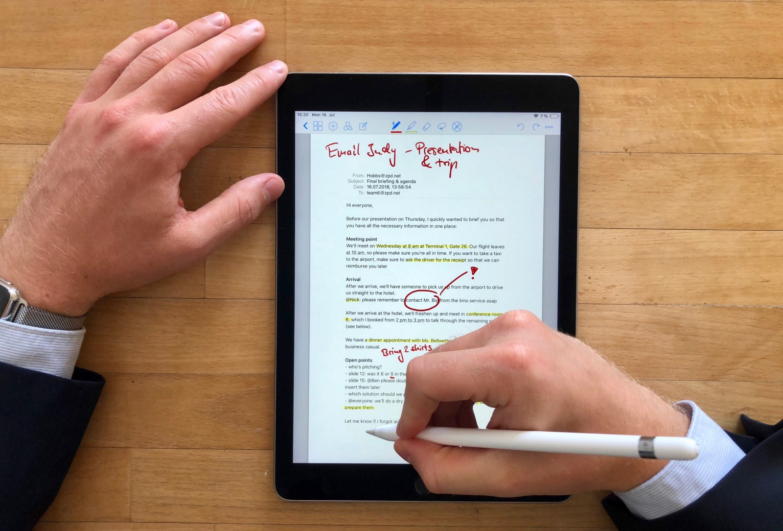 How to markup an email with the apple pencil goodnotes blog