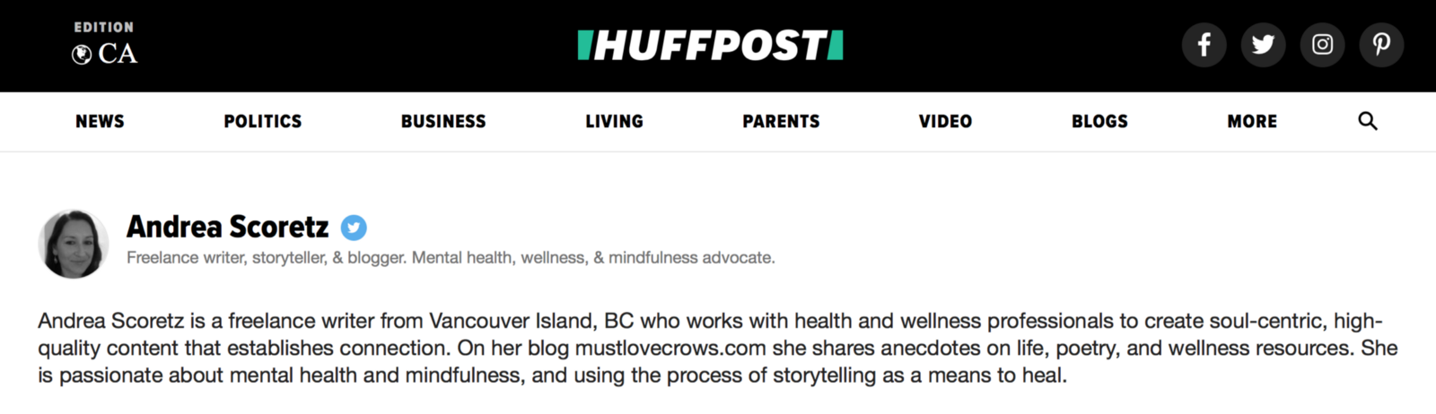 What it's like to Blog on the Huffington Post