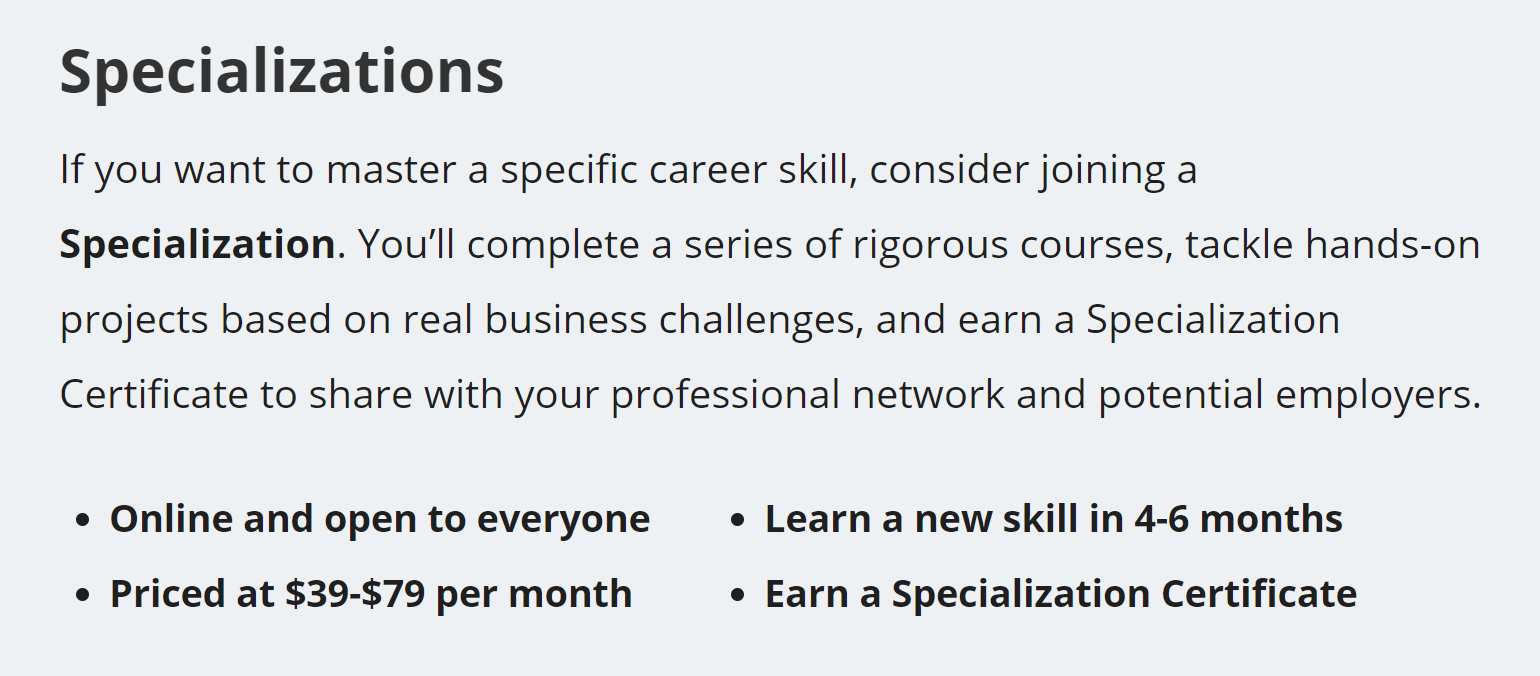 Coursera Free Online Courses Mooc Certificates Specialization