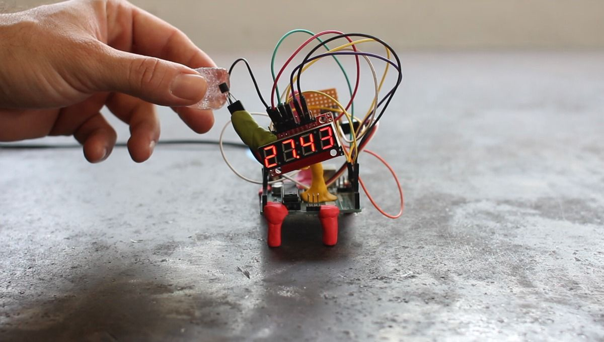 10 Arduino Projects For Beginners Anyone Can Make Whats Making Thermistor Circuit Further On A Breadboard Circuits You Also See That In The Final Version We Replaced Standard With