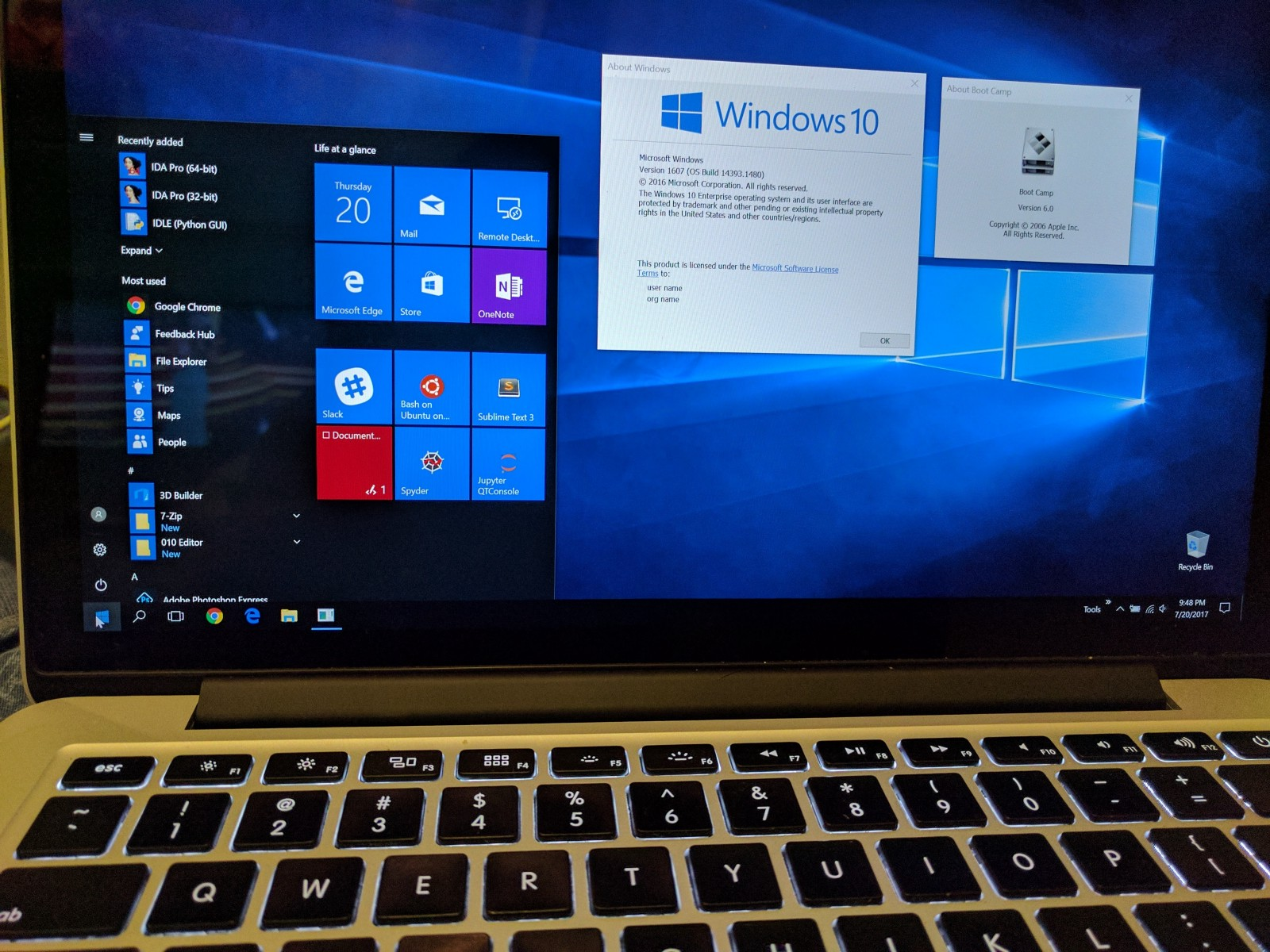install windows 10 from usb on macbook pro