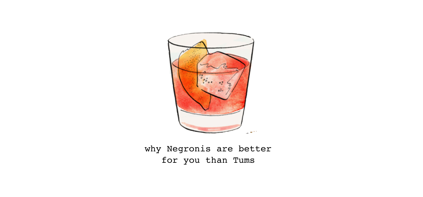 why negronis are better for you than tums – humble leaf – medium