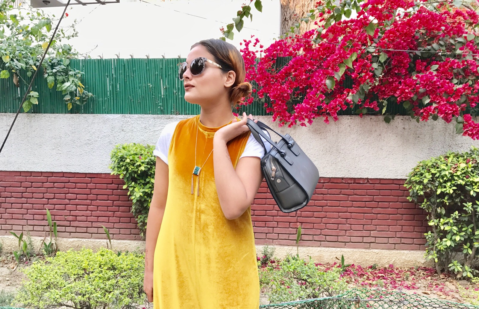 f63b435c14a0 Well this blog is about the latest velvet trend that is all over the place  these days. This vibrant mustard velvet jumpsuit is from Zara ...