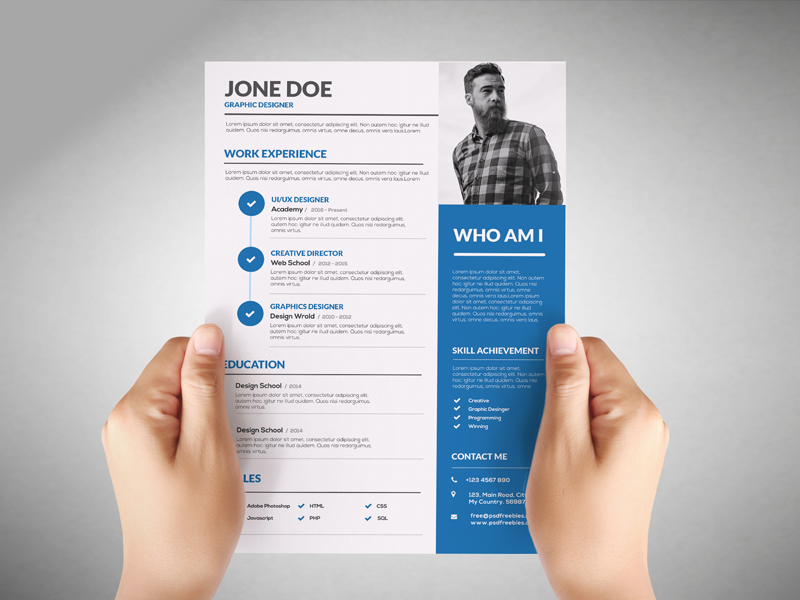 25 best free resume templates for all jobs ui collections medium graphic designer resume template yelopaper Images