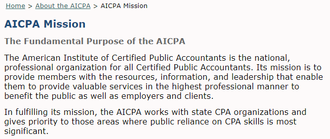 Open Letter from CPAs on the American Institute of Certified Public ...