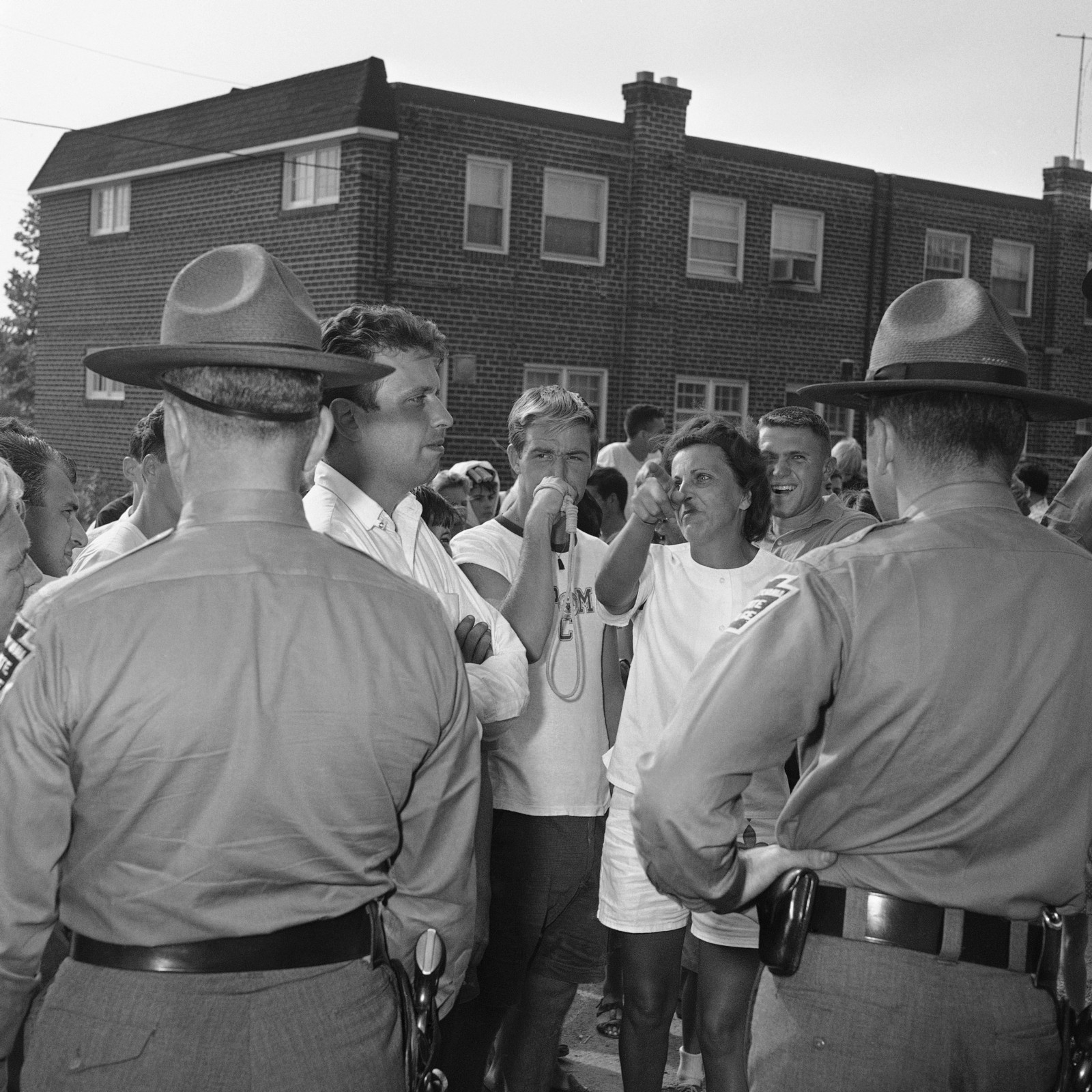 Demonstrations Against A Black Family Moving Into An All White Neighborhood In Folcroft Pennsylvania Suburb Of Philadelphia 1963 AP