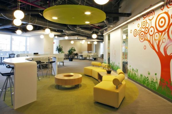 Elegant Go For Sustainable And Eco Friendly Office Interior Decoration