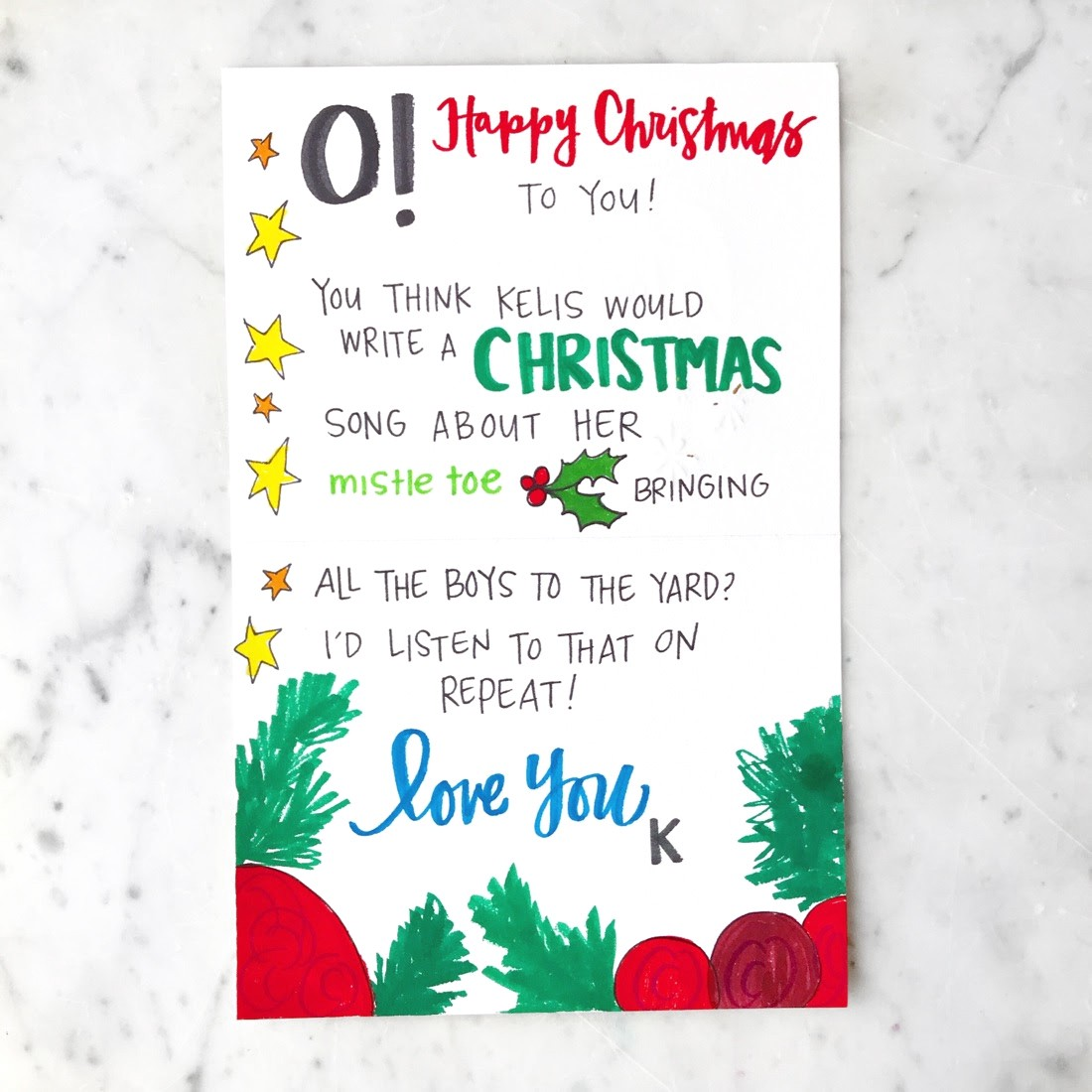 what to write in a christmas card