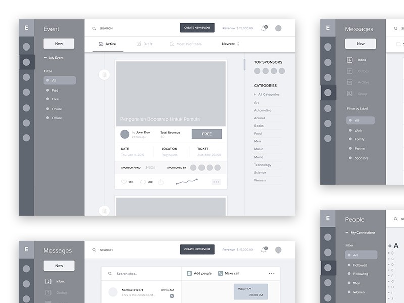 Wireframes, Flows, Personas And Beautifully Crafted UX Deliverables For Your Inspiration