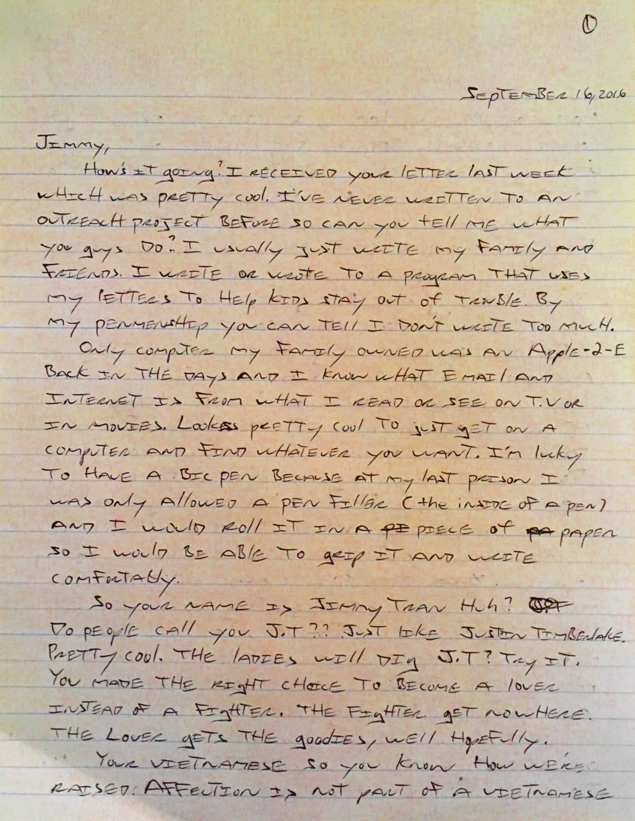 Letters To California Prisoner 2 Sunnys Reply The Thirsty