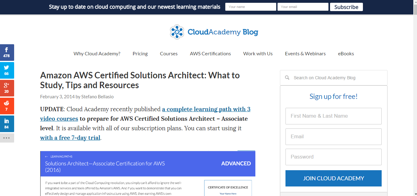 6 resources to prepare for the amazon aws certification exam another great preparation resource for anyone who doesnt know what they should study including studying tips and even resources that they can start 1betcityfo Image collections