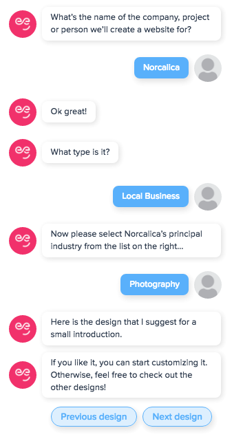 Chatbot-driven website builders could replace drag-and-drop editors