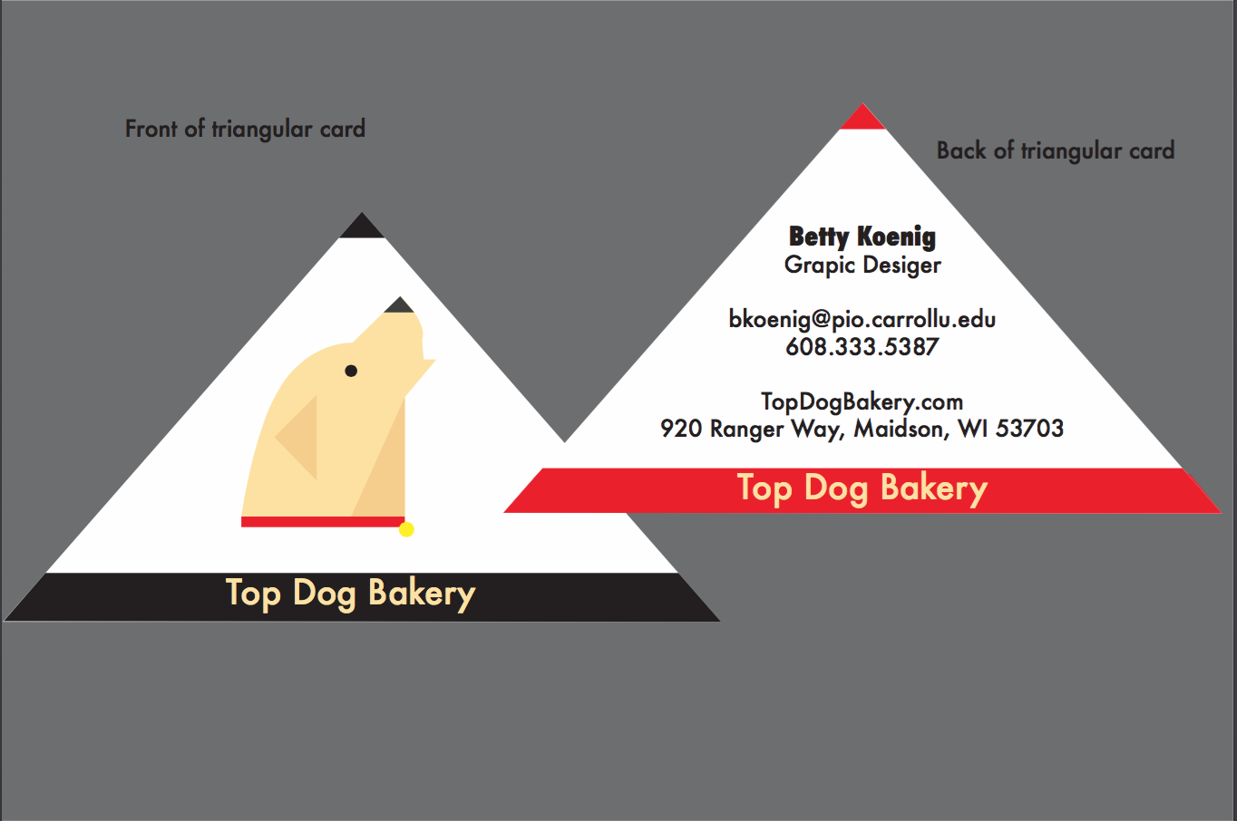 this is what i created for a business card for the company top dog