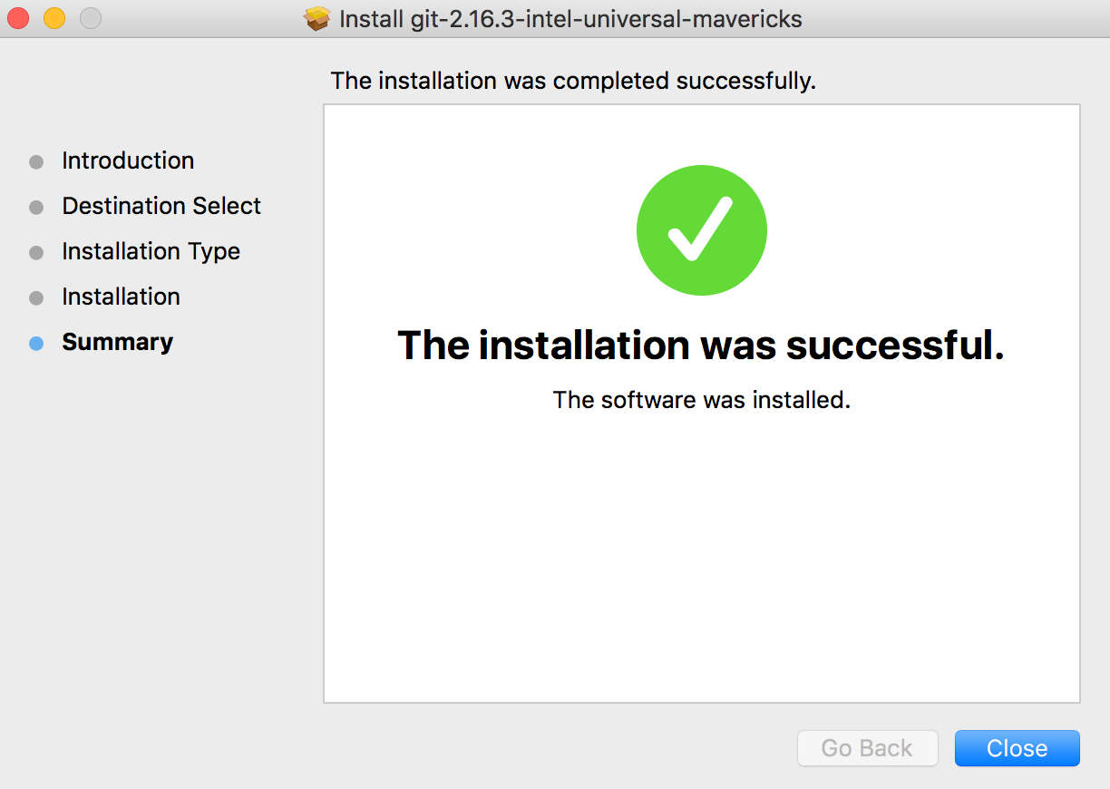 git installation mac os x