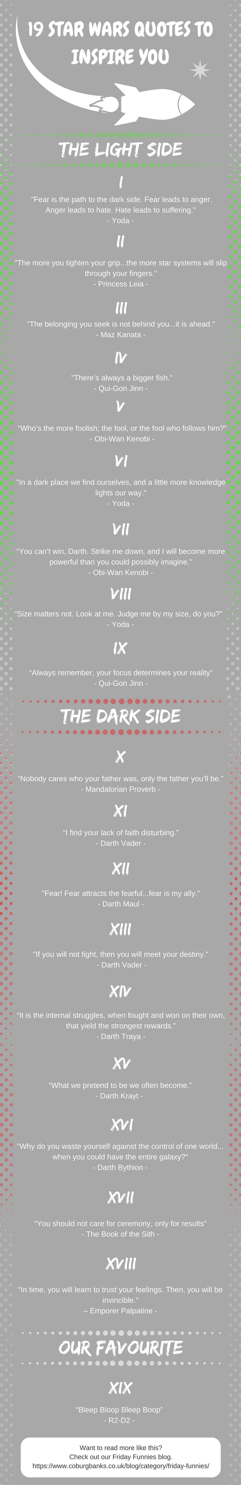 19 Star Wars Quotes To Inspire You Today Infographic
