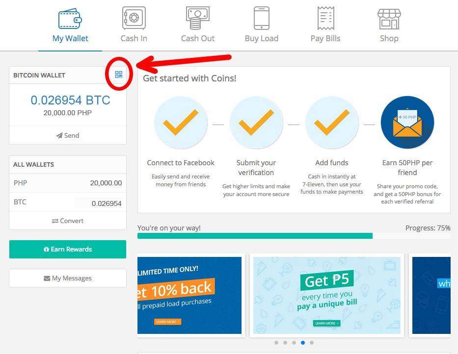 How we bought sold bitcoin in the philippines jake nasol loria clicking the little blue qr code will prompt the window containing your bitcoin wallet address ccuart Choice Image