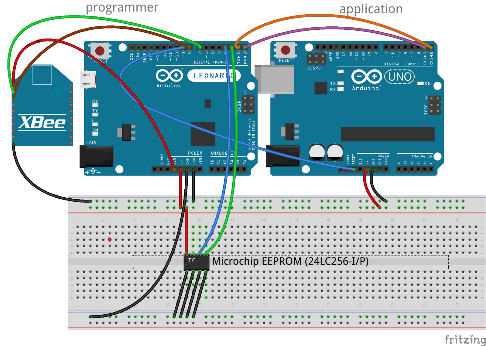 Arduino Remote Uploader Andrew Rapp Medium I2c Wiring Pay Careful Attention To The Of Microchip Eeprom It Is An Device And Pins Vary Depending On
