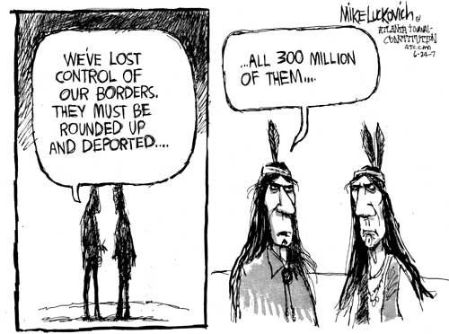 Political Cartoonists Seem Confused About Native Americans Settlers