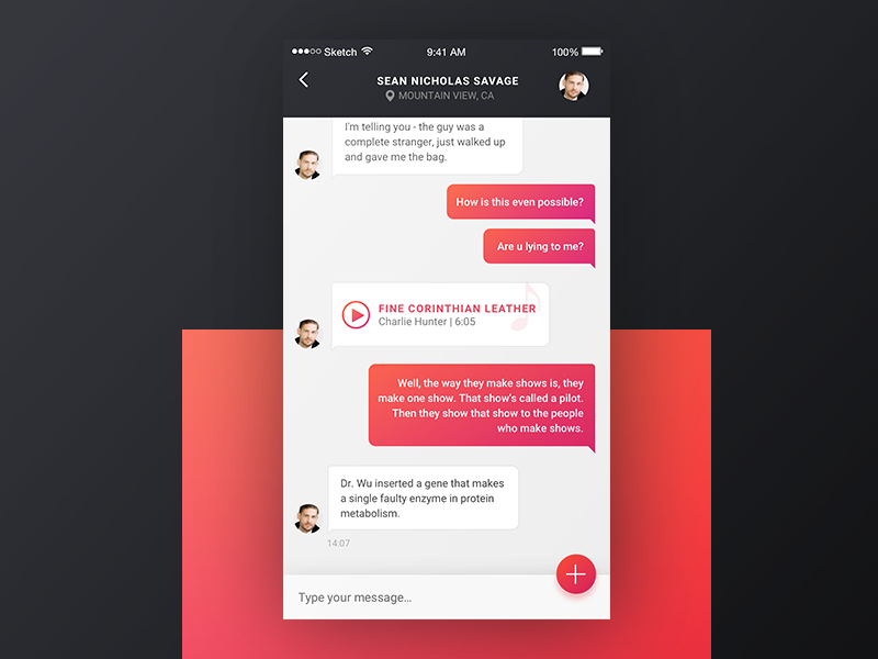 chatmessaging ui inspiration muzli design inspiration
