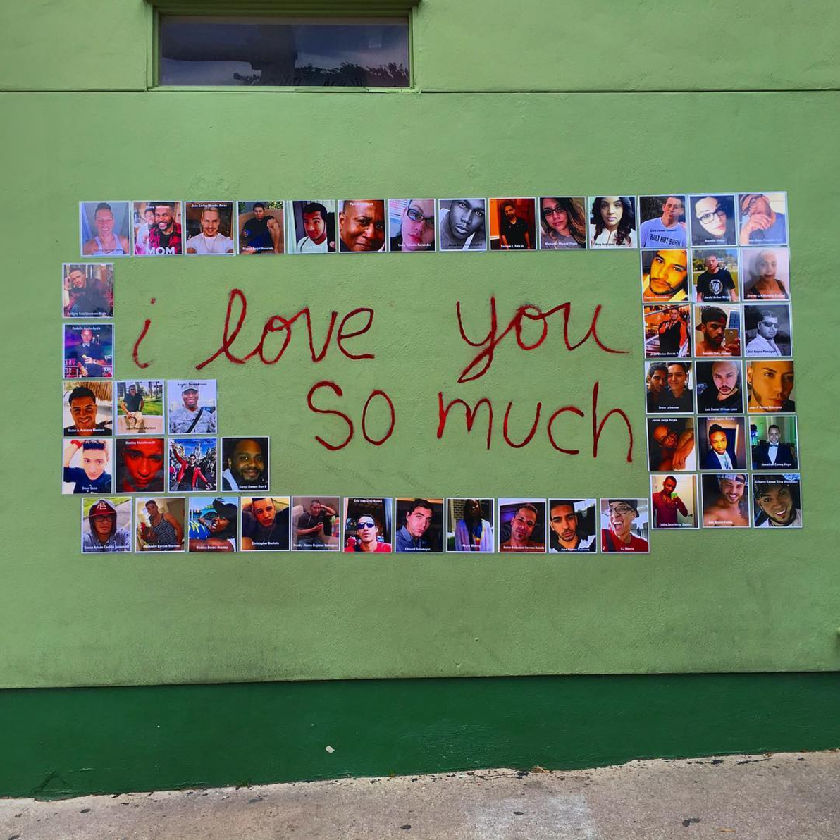 The i love you so much wall was the site of a memorial for the victims of the horrific 2016 shooting at the pulse nightclub in orlando florida