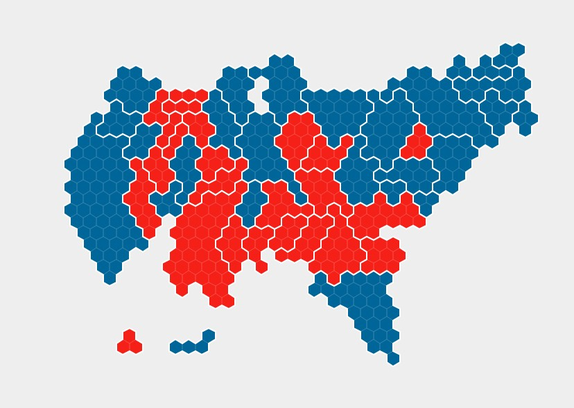 US Election Battle Of The Maps Ben Flanagan Medium - Huffington post us election map