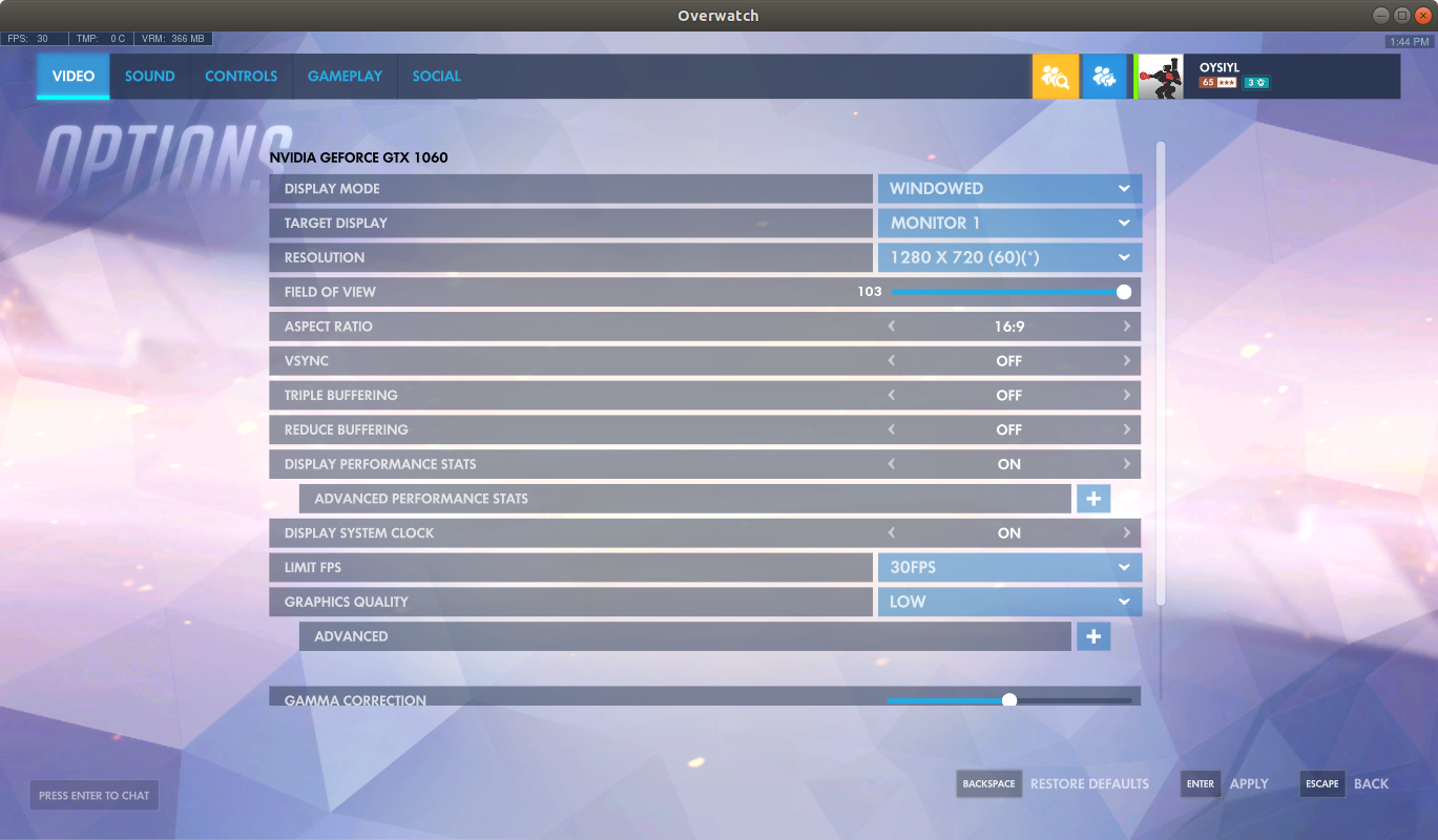 Bot realtime object detection in Overwatch on Ubuntu 18 04