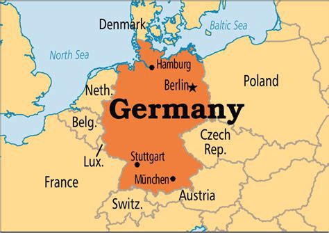 Map Of Germany And Surrounding Countries.The German Economy In Slowdown Mode Geopolitical Tide Medium