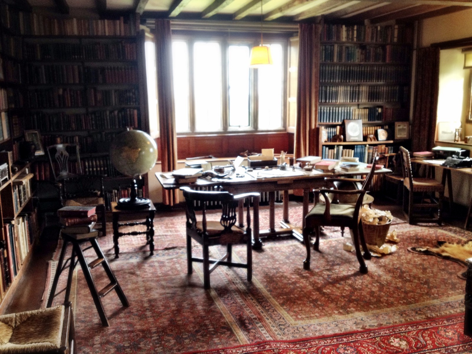 Large Windows Over Rudyard Kiplings Desk In His Writing Study