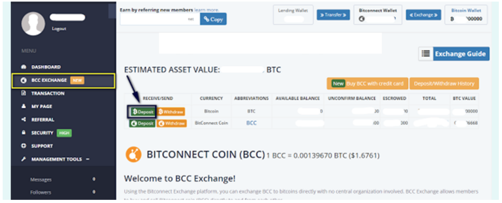 Investment detailed instructions bitconnect bcc coin venus medium send bitcoin account you want to load into the address for ccuart Choice Image