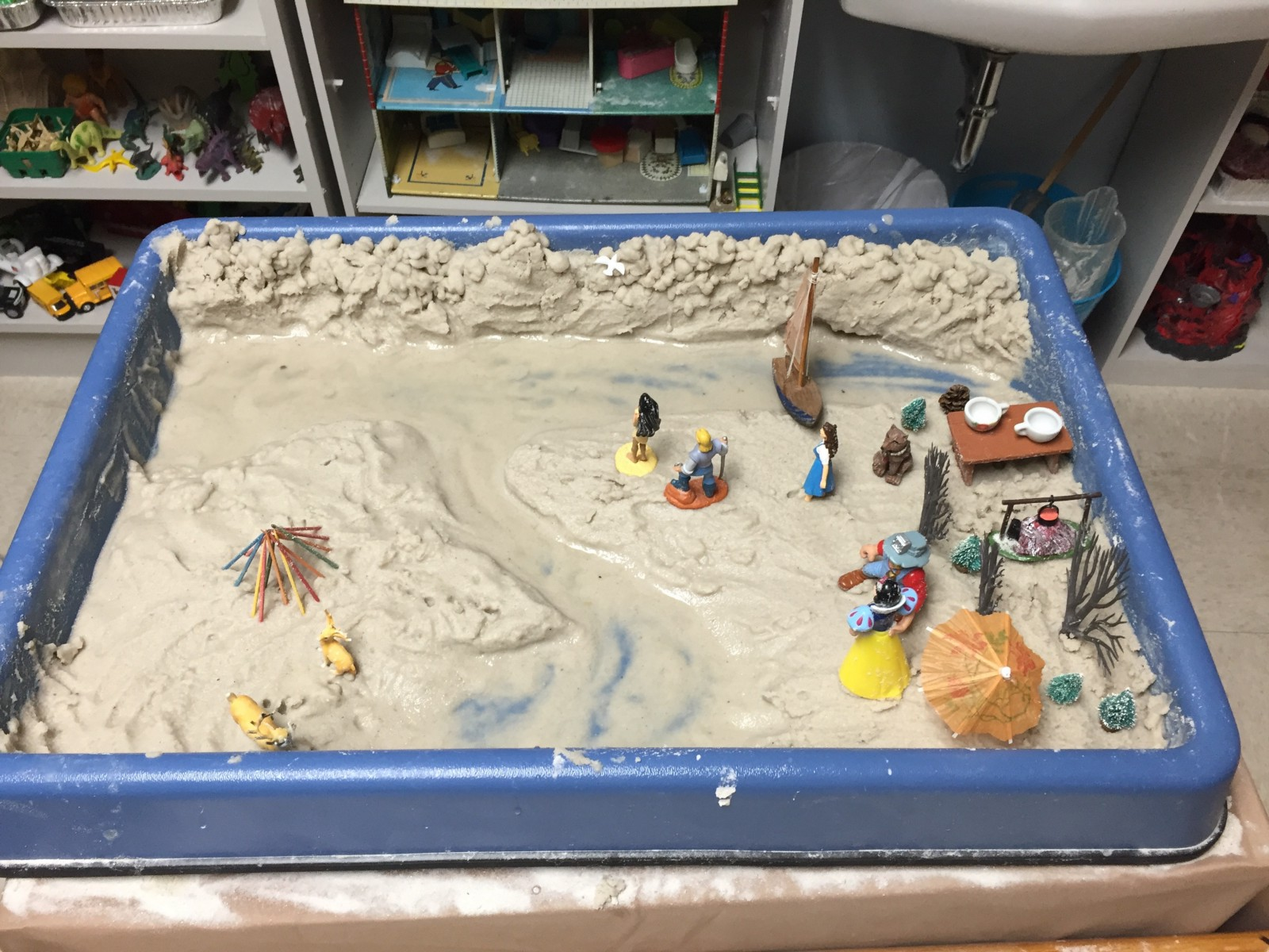 Image result for sand tray therapy