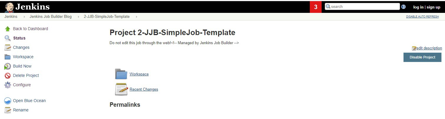 Click on 2-JJB-SimpleJob-Template