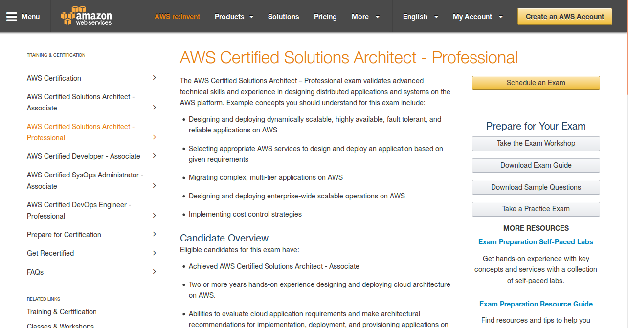 7 resources to master the aws professional certification exam the best place to get started with studying for the aws certification exam is definitely the aws website the website itself is equipped with valuable xflitez Gallery