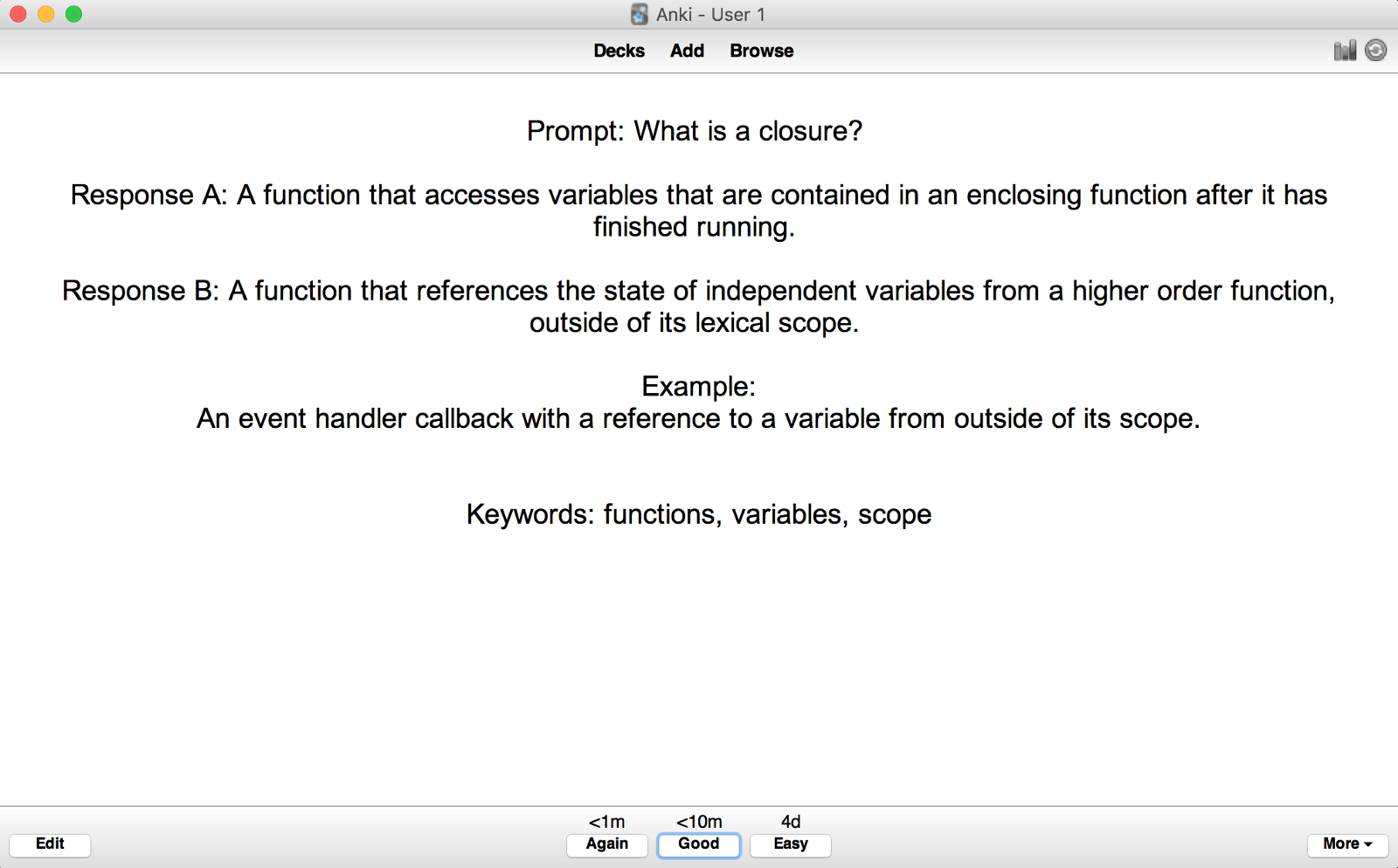 ... Interview Question. Anki Note In Review Session