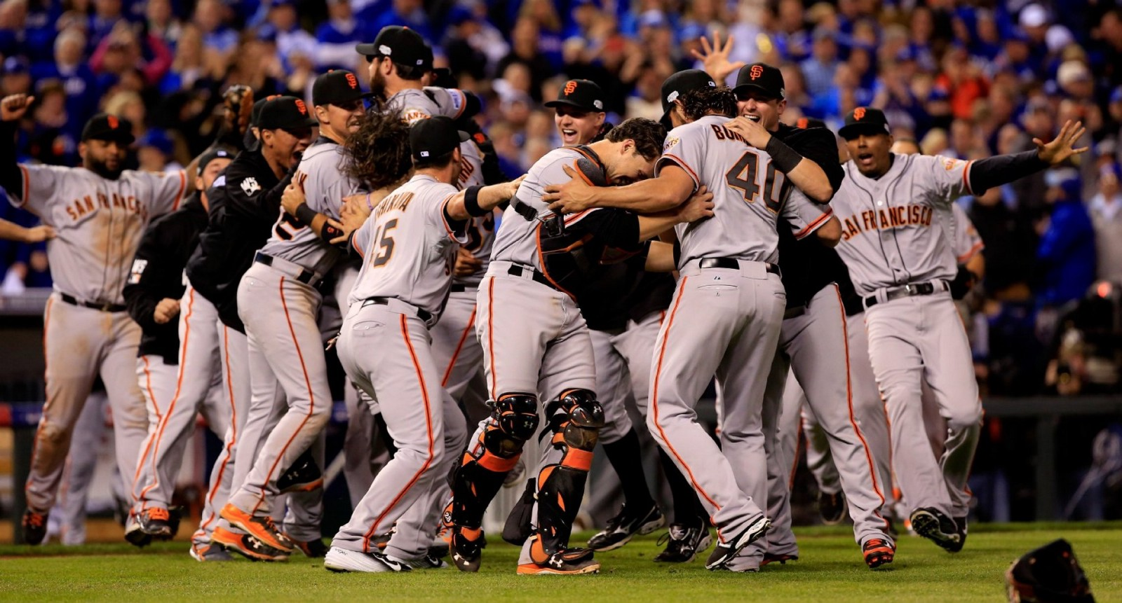 bac30897205a8 The Giants celebrate a World Series Championship. (Getty Images Jamie  Squire). The San Francisco ...