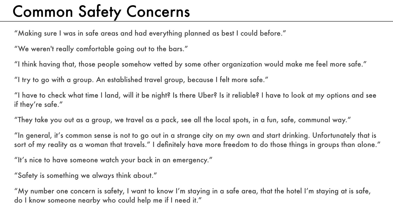 A social network for solo travelers a ux case study a short list of the ways our users thought about safety while traveling publicscrutiny Choice Image