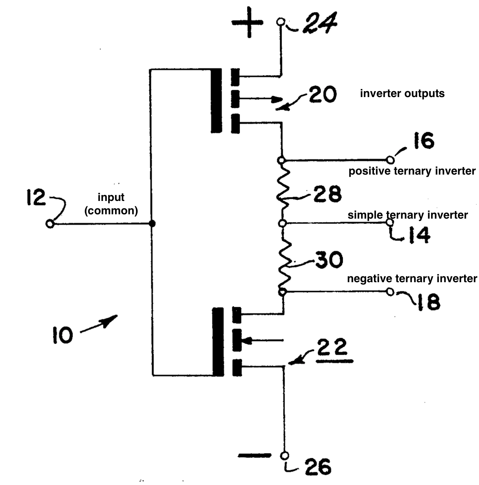 Exploring Ternary Logic Building Inverters Using Circuits Volume Iv Digital Chapter 3 Gates Diagram 4 The Simple Inverter Is Arguably Simplest But There Are Also Two Trivial Variations On This Gate Changing Output When An Input Of