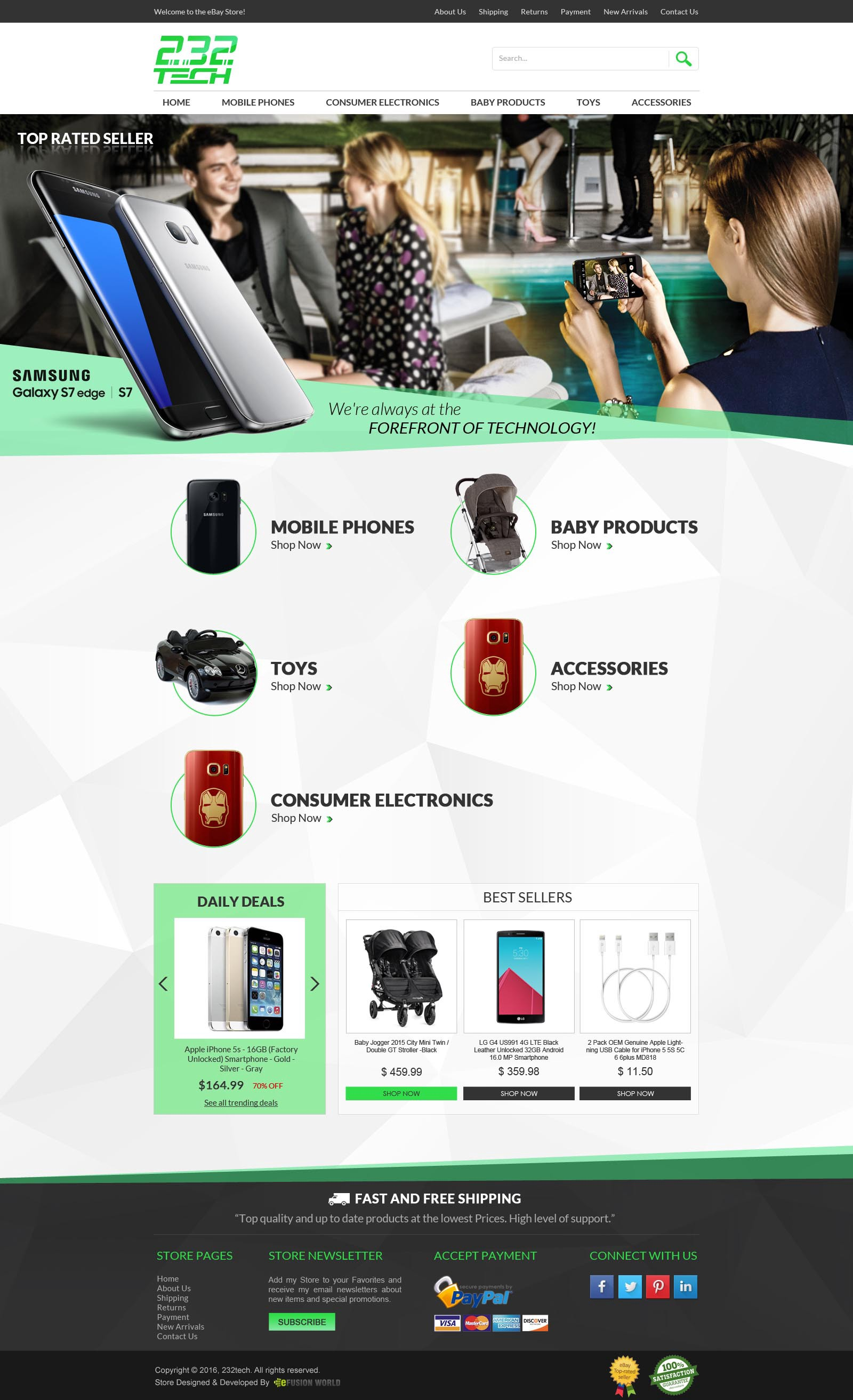 Advance eBay Shop Template Listing Design Service – eFusionWorld ...