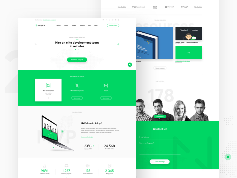 Landing Page Inspiration January 2017 Collect UI Design UI
