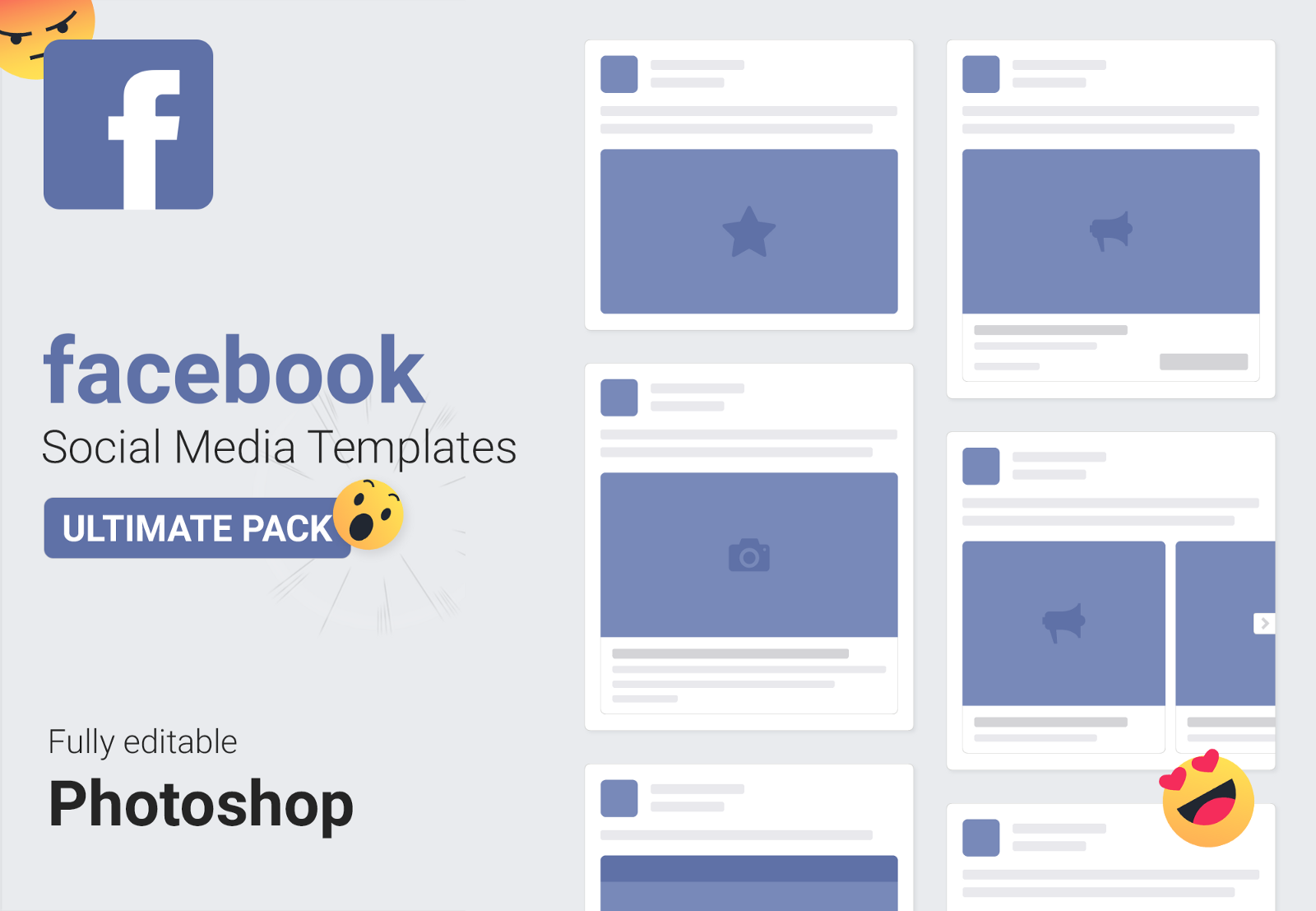 Free Social Media Mockups Templates Nastya Esina Medium - Facebook ad template illustrator