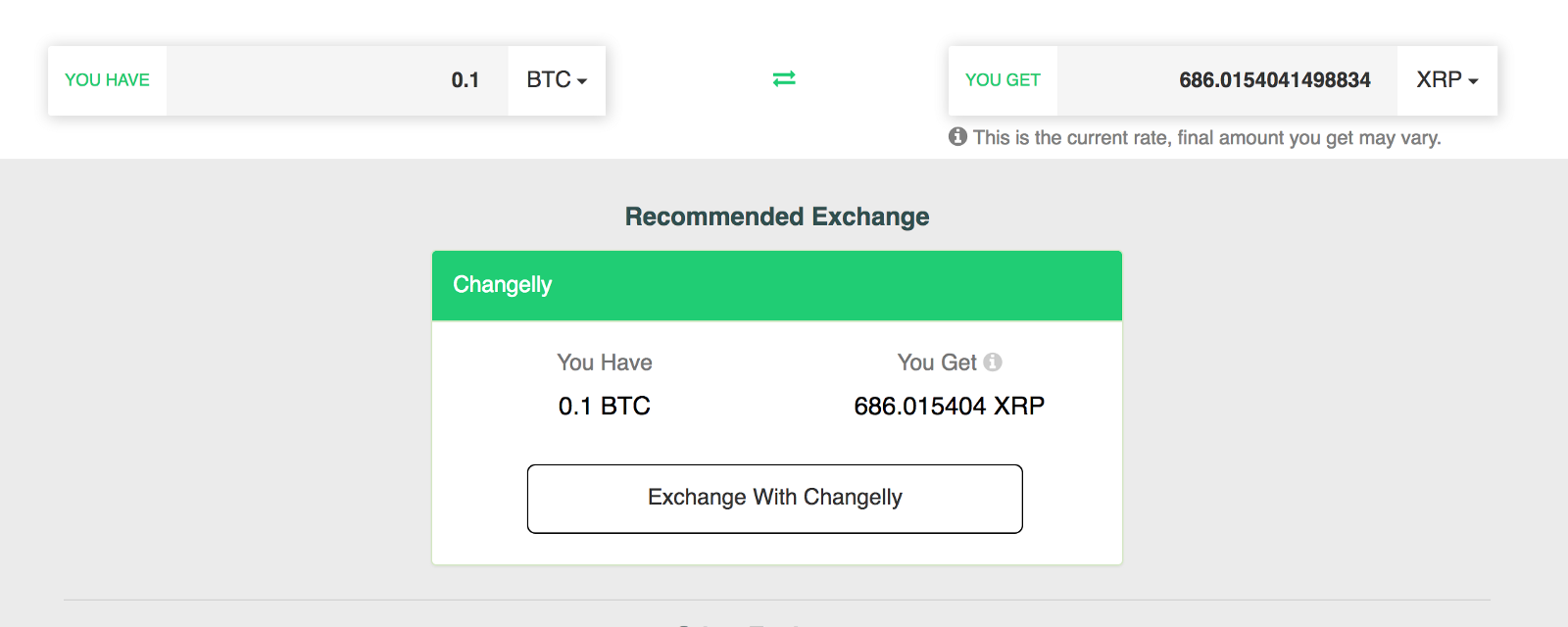 Transfer the amount of BTC to the above address and wait for it to convert  to OMG. You can always track your transaction on the block chain with our  easy to ...