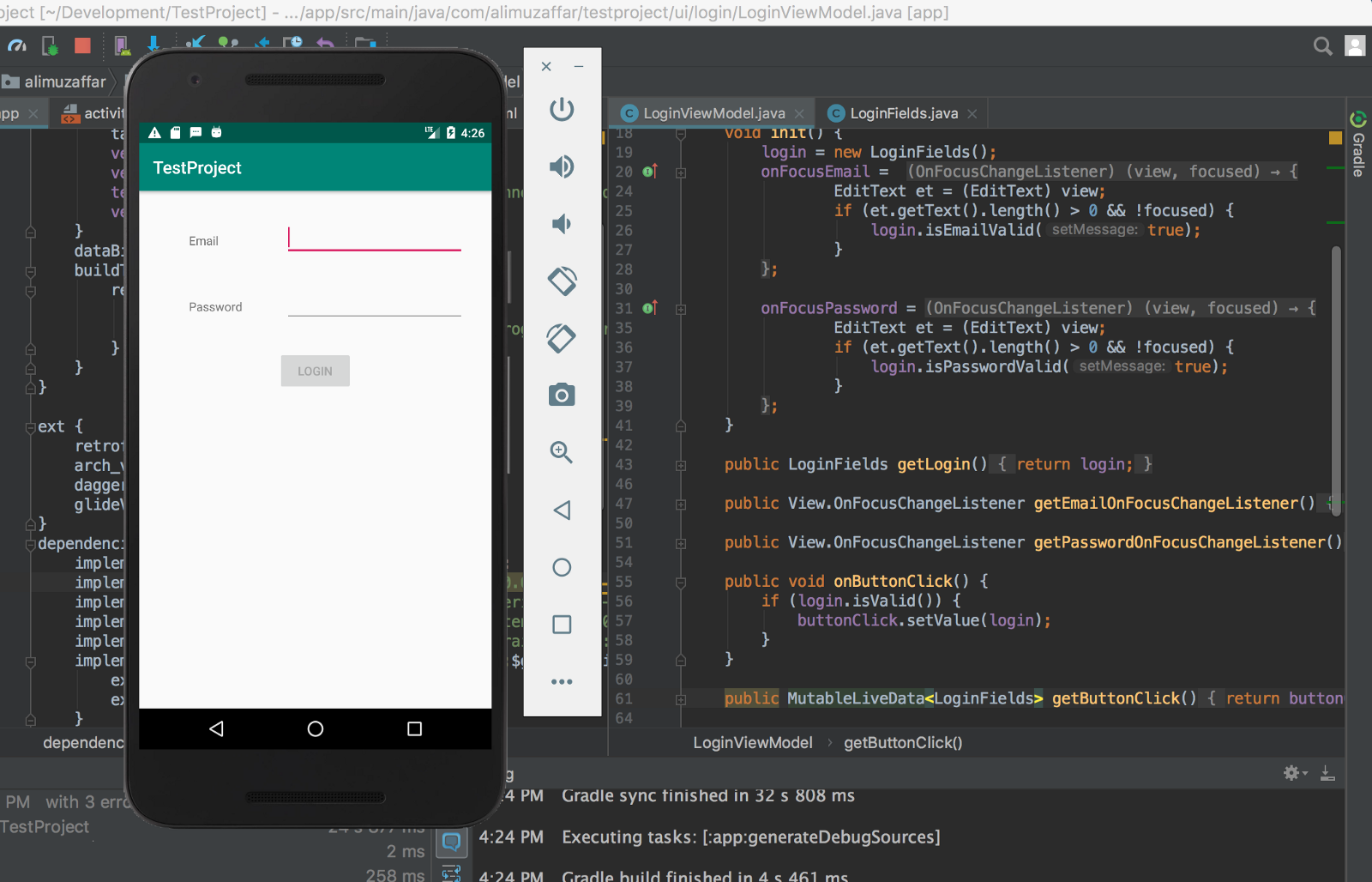 Android Form Input And Validation Using Mvvm With Databinding