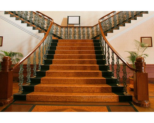 If A Quarter Turn Stair Is Branched Into Two Directions At A Landing Then  They Are Called Bi Furcated Stairs.