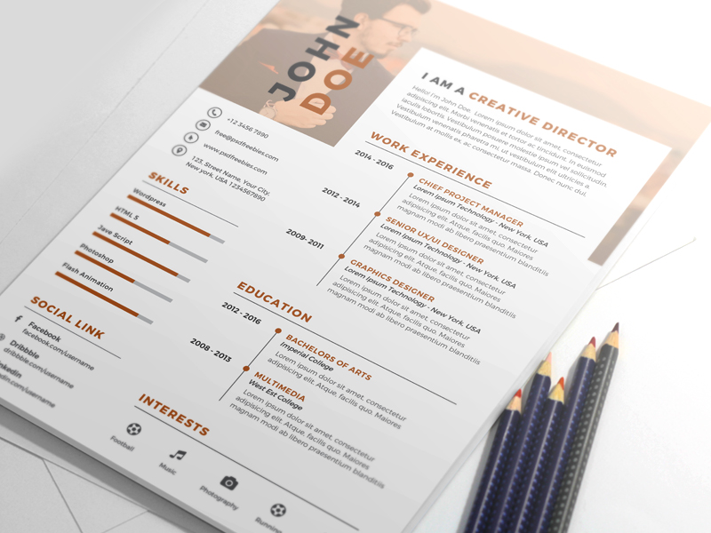 Nice And Clean Resume CV Template  Clean Resume Templates