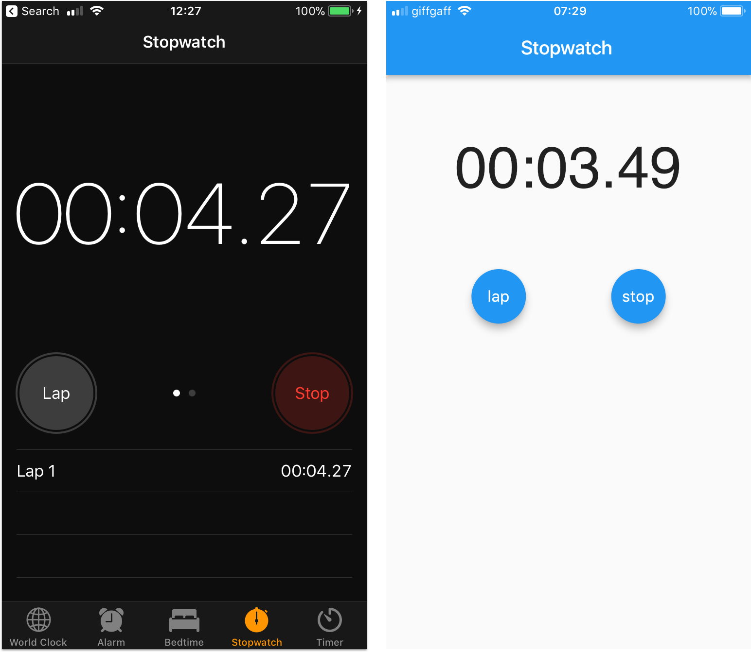 android startup timer