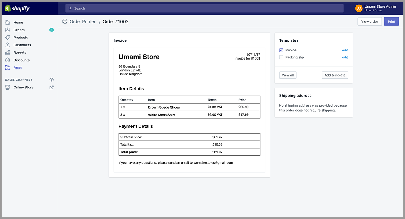 Whats The Best Invoicing App For Your Shopify Store - Create my own invoice shoe stores online