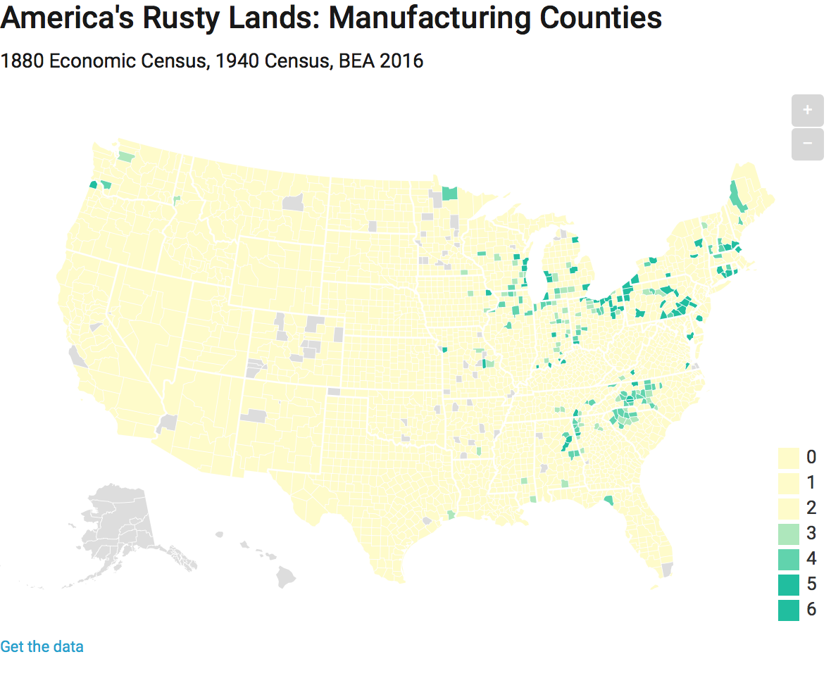 Rust Belt States Map.Where Is The Rust Belt In A State Of Migration Medium