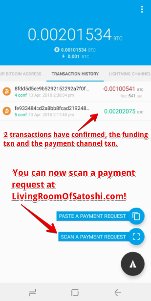Lightning Network is now live at Living Room of Satoshi!