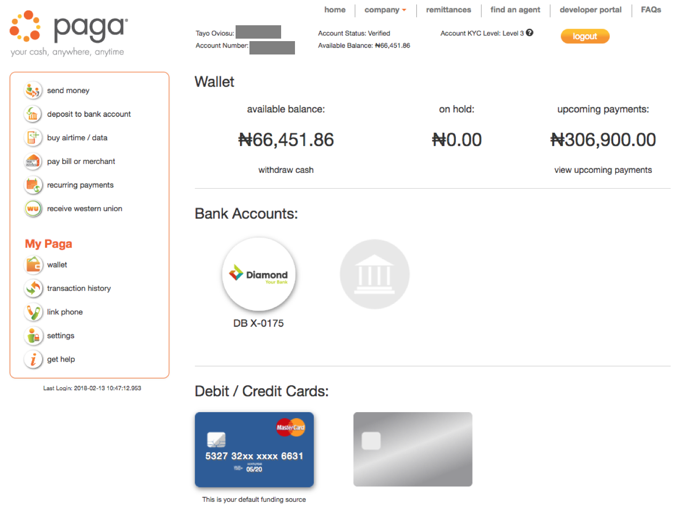 Now When Performing Transactions On Paga You Can Choose How D Like To Fund The Transaction Cash In Your Wallet Linked Bank Account Or Saved Card