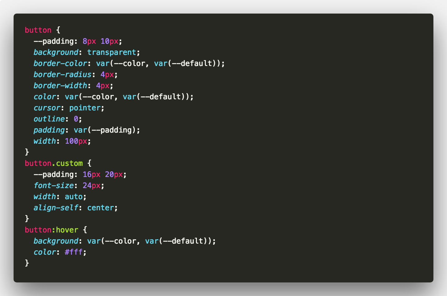 5e966b652e A Quick Guide to CSS Variables – codeburst