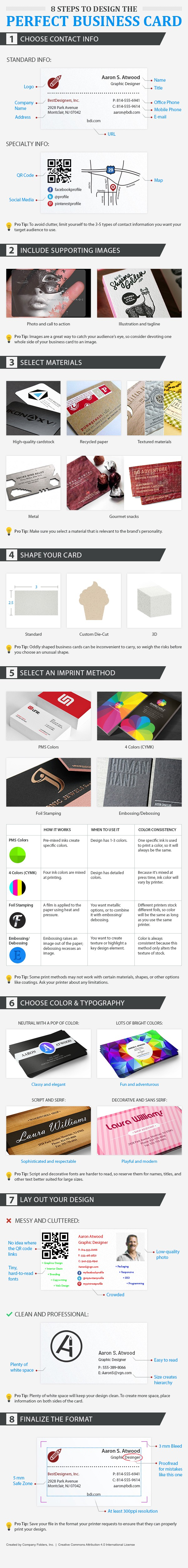 12 brilliant business card design ideas company folders inc medium catch a glimpse of the other 11 pro tips for designing the perfect business card you can also download our super helpful graphic for free to make reheart Gallery